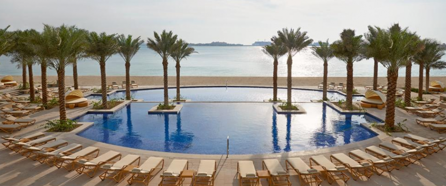 Enjoy the lovely pools at the Fairmont The Palm Dubai