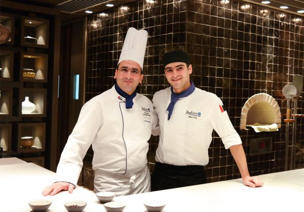 The chefs at Aseelah restaurant